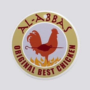 pal-chicken Round Ornament